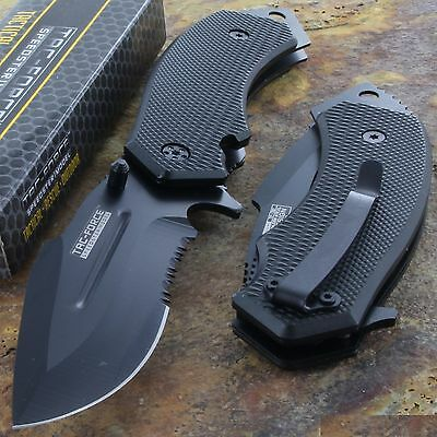 "8"" DROP POINT SPRING ASSISTED TACTICAL FOLDING KNIFE Blade Pocket Open Assist"