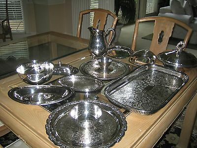 Vintage Silver Plated Serving Items (Lot 11)