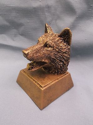 resin wolf mascot trophy award RS479