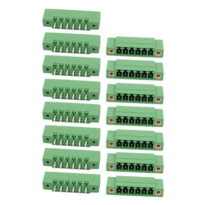 15Pcs LZ1VM 3.5mm Pitch 6P PCB Mounting Terminal Block Wire Connector