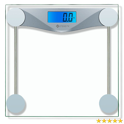 Etekcity Digital Body Weight Bathroom Scale With Tape Measure Tempered Gl