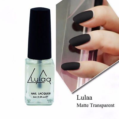 Matte Nail Art Transfiguration Nail Polish Top Coat Frosted Surface Oil 6ML