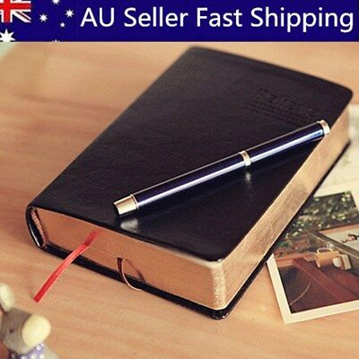 Retro Vintage PU Leather Cover Notebook Journal Diary Travel Notepad Blank Pages