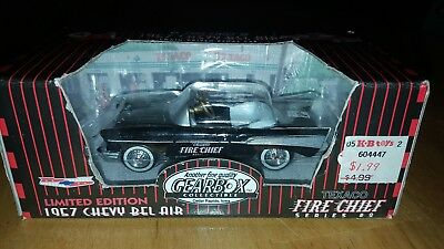 Gearbox Texaco Limited Edition 1957 Chevy Bel Air Fire Chief Black #2 New