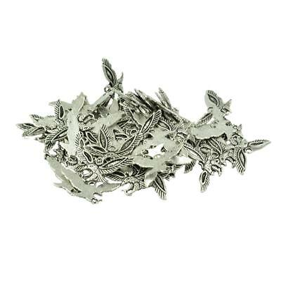 50Pcs Tibetan Silver Flying Eagle Charms Pendants Beads Jewelry DIY Craft