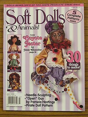 Soft Dolls & Animals - June/july 2006 Jester Pirate Button Dolly  'as New'