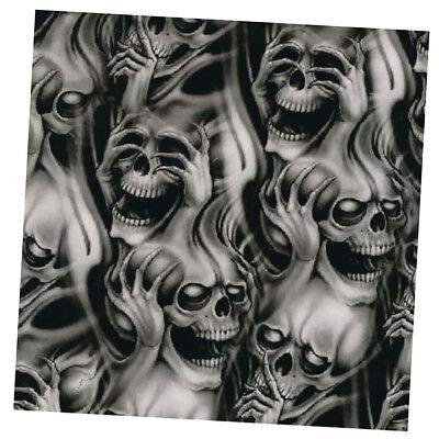 Water Transfer Print Large Skull Film Plastic Dipping Hydrographics