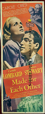 Made For Each Other - James Stewart / Carole Lombard - Insert Movie Poster