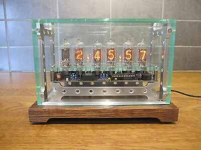 Nixie Clock Industrial Design. Based on PV Electronics QTC, + Z5700 Tubes (Mk2)A