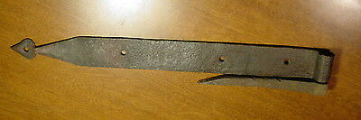 Hand Forged Antique Iron Strap Hinge & Pintle Primitive Old Hardware Barn Door B