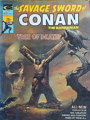 The Savage Sword of Conan (the Barbarian) #5 April 1975