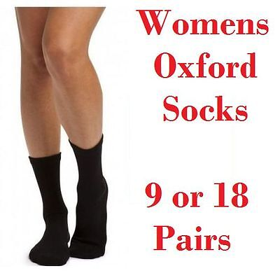 BONDS OXFORD 9 OR 18 PAIRS PACK SOCKS Womens Crew Cotton Size Sizes 3-8