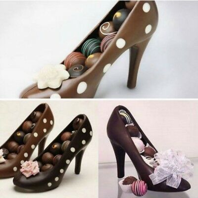 AU 3D Chocolate Mold High Heel Shoe DIY Tools Candy Cake Mould Decorating Decro