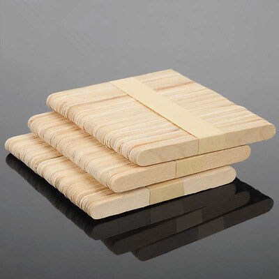 50/100pcs Ice Cream DIY HandiCraft Wooden Popsicle Stick Original Timber Sticks