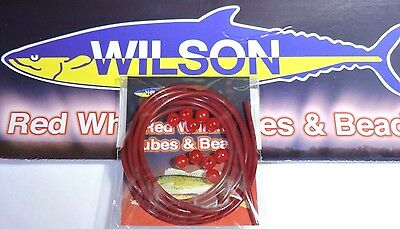 Wilson Red Whiting Beads And Tube Fishing Lure Plastic Beads Bream Flathead