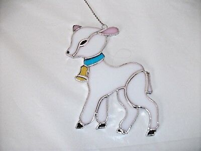 Stained Glass handmade lamb sun-catcher / window decoration
