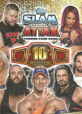 TOPPS WWE Slam Attax 10 LIMITED EDITION - CHOOSE