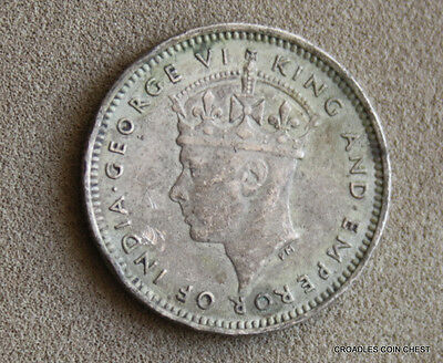 1941 Silver 10 Cent Malaya  World War 2 Era .750 Silver World Coin  #fajc2