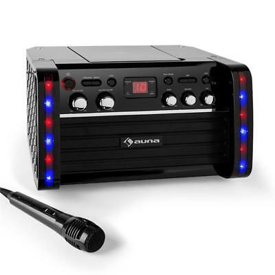 Karaoke Anlage Mikrofon Aux Player Lcd Display Dj Party Maschine Vers. Farben