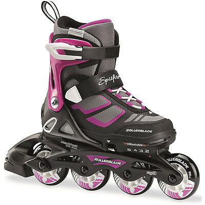 Rollerblade 2017 Spitfire Adjustable Inline Skates - Black/Purple