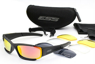 2017 ESS CDI SunGlasses Polarized 4 Interchangeable Lenses Sports Cycling