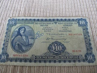 1975 Lady Lavery 10 pound note REDuCED