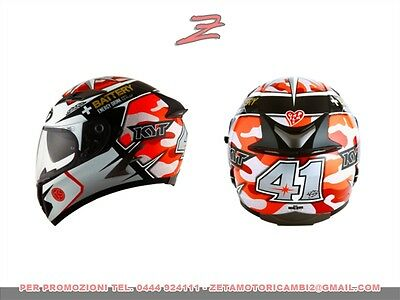 7582db67 casco integrale fullface moto Suomy KYT Falcon Espargaro replica red fluo