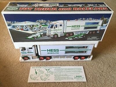 2003 Hess Toy Semi Truck And Race Cars Hess Collectible Gas & Oil