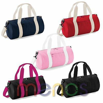 Mens Womens Unisex Sports Bag Gym Duffle Holdall Travel Barrel