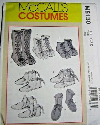 McCALL'S MISSES' and MENS' HISTORIAL COSTUME FOOTWEAR PATTERN (M5130)