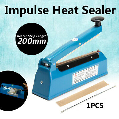 "12"" Heat Sealing Machine Impulse Sealer Seal Machine Poly Tubing Plastic Bag Kit"