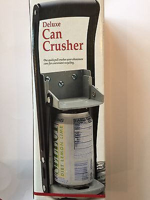 Large Deluxe Wall Mounted Can Crusher Recycling Tool