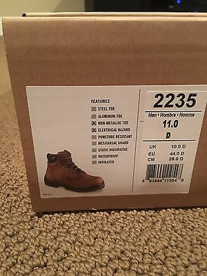 Red Wings 2235 Men's Steel Toe Work Safety Boots Brown Size 11