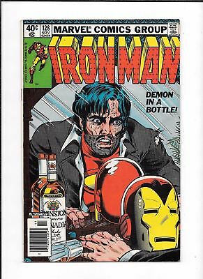 Iron Man #128 ==> Vf Alcoholism Issue Demon In A Bottle Marvel Comics 1979