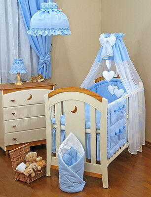 LUXURY 9 pcs BABY BEDDING SET TO FIT BABY COT or COT BED / COTBED LOVE  HEARTS