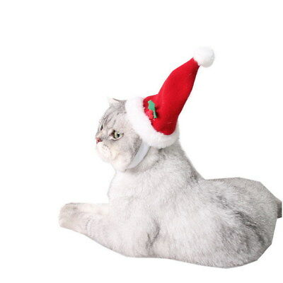 Red Pet Hat for Cats Dogs Costume Cap Christmas Cosplays Apparel Xmas Gift