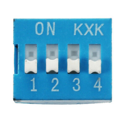 10 Pcs 2 Row 8 Pin 4P Positions 2.54mm Pitch DIP Switch Blue D9V4
