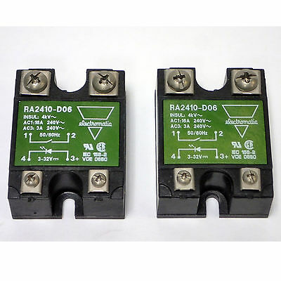 Lot Of 2 Electromatic Ra2410-D06 240Vac / 3-32Vdc Solid State Relay