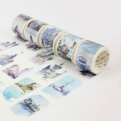 Scrapbooking Stadt Architektur Washi Papier Band Reisen THE WORLD Aufkleber