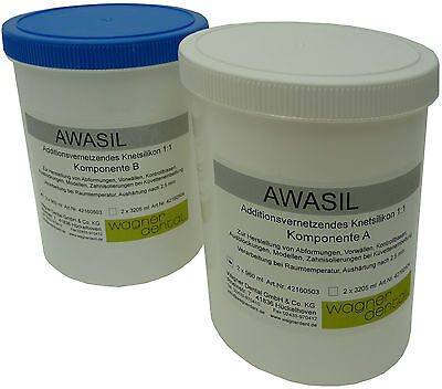 awasil 95 Kneading Silicone Putty 1:1, 95 Shore Impression Material 2 x 960 ml