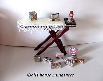 Ironing Board  And Accessories   Dollshouse Miniature