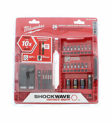 Milwaukee 48-32-4408 Shockwave Impact Duty Drive and Fasten Bit Set (26-Piece)