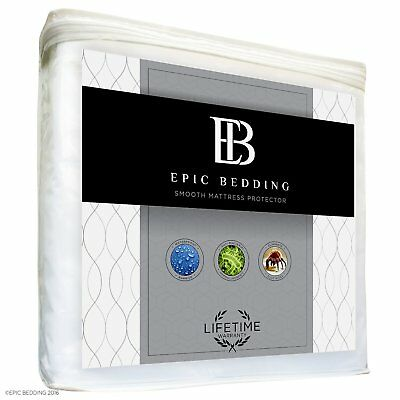 Mattress Protector - Waterproof, Hypoallergenic, Breathable - Twin XL