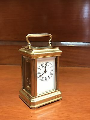 Fine Small Gold Gilt Brass Carriage Clock. Open To Offers?