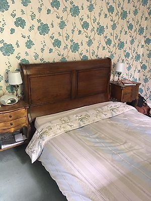 Beautiful Solid Wood Vintage King Size Sleigh Bed Interior Design French