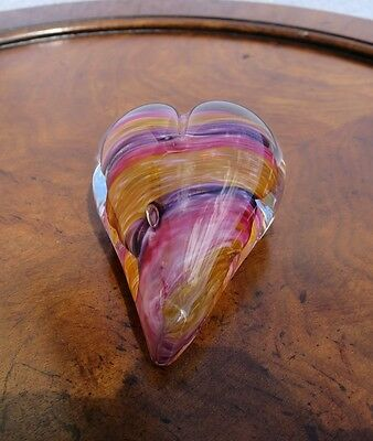 Colorful Glass Shaped Heart-paperweight-beautiful