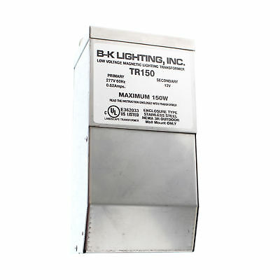B-K Lighting Tr150 Low Voltage Magnetic Lighting Transformer 277Vac To 12Vac