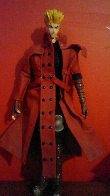 """Toycom TRIGUN VASH THE STAMPEDE COLLECTOR'S  Figure Red 12"""" Japanese import"""
