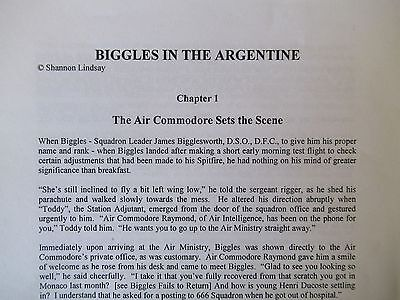 BIGGLES IN THE ARGENTINE Shannon Lindsay's continuation of W.E.Johns' Biggles
