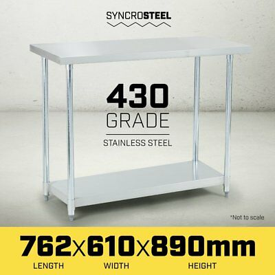 NEW 762 x 610 STAINLESS STEEL 430 COMMERCIAL WORKBENCH BENCH TABLE